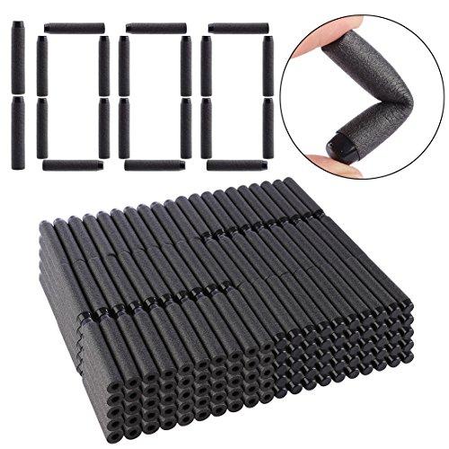 TXXCI 1000 Stück Foam Darts Pfeile Patronen für Nerf N-Streik Elite Series Blasters Spielzeugpistole-Schwarz