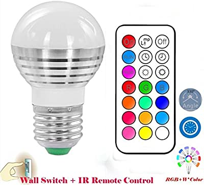 Lennystone® Led RGB Light Bulbs,16 Colours Changing Dimmable Spotlights with IR Remote Control,Party Light Mood Ambiance Lighting