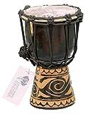 Professionelle 20cm Djembe Trommel Bongo Drum Buschtrommel Afrika-Style handgeschnitzt aus