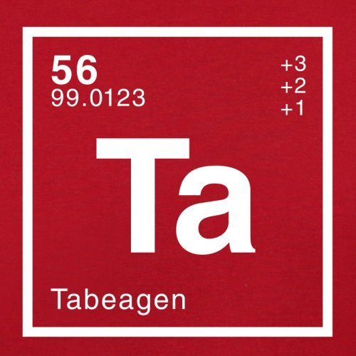 Tabea Periodensystem - Herren T-Shirt - 13 Farben Rot
