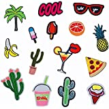 Fancyku Cloth Patches 15 Pieces Cute Pattern Embroidery Patches for Clothing (Pattern 1)