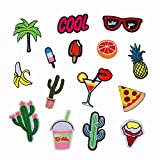 #3: Fancyku Cloth Patches 15 Pieces Cute Pattern Embroidery Patches for Clothing
