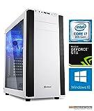 Gaming PC M25W Intel, i7-8700K 6x3.7 GHz, 2TB HDD + 240GB SSD, 32GB DDR4, GTX1080Ti 11GB, Windows 10, Spiele Computer zusammengestellt in Deutschland Desktop Rechner