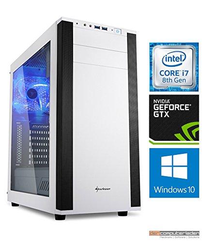 Gaming PC M25W Intel, i7-8700K 6x3.7 GHz, 1TB HDD, 32GB DDR4, GTX1080Ti 11GB, Windows 10 dercomputerladen