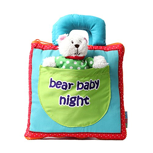 VADOO Animal Tails Livre en Tissu Jouet pour bébé Livres de développement en Tissu Livres dapprentissage et déducation Livres d'éveil Eveil et jouets