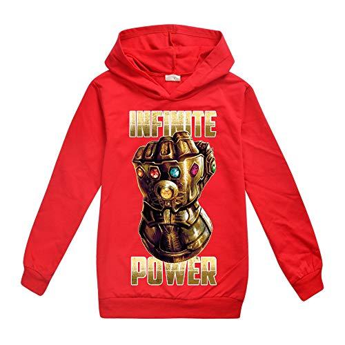 Damrg Thanos Handschuh Kapuzenpullover Für Kinder, Avengers Endgame Superheld Quantum 3D Hoodie/Kapuzenpulli/Kapuzenjacke/Sweatshirt Pullover Für Mädchen Jungen - Star Lord Kostüm Hoodie