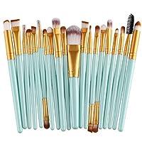 DANMEI 20 Pcs/Set Premium Makeup Brush Set Eye Shadow Eyebrow Lip Brush Eyeliner Face Powder Cosmetic Hard Wands Makeup Cleaner and Dryer Tool