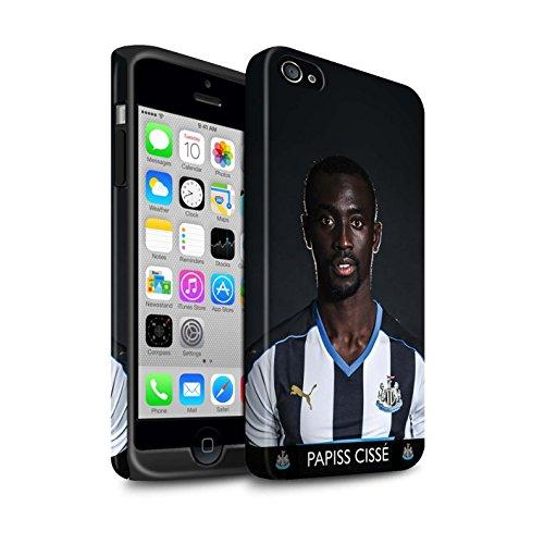 Officiel Newcastle United FC Coque / Matte Robuste Antichoc Etui pour Apple iPhone 4/4S / Pack 25pcs Design / NUFC Joueur Football 15/16 Collection Cissé