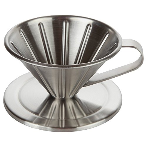 home-x 1Tasse über Edelstahl Gießen Kaffee Konus Maker. Perfekt für Konus Filter (Cone Keramik-kaffee-filter)