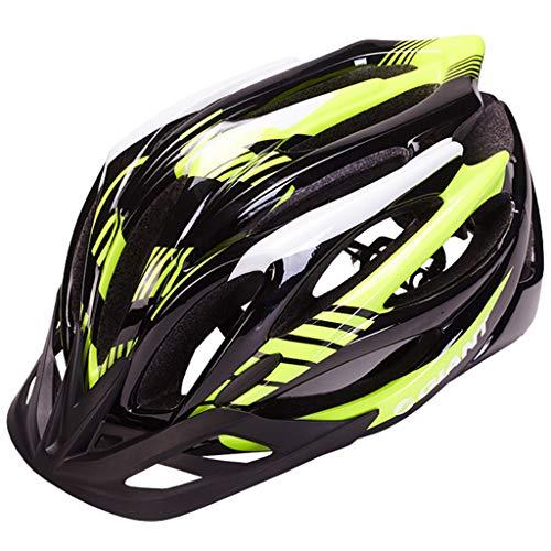 wthfwm Fahrradhelm, Fahrradhelm für Erwachsene, Rennradhelm, Sicherheitsschutz und atmungsaktiv für Outdoor-Sportarten,Green-L(58/62cm)