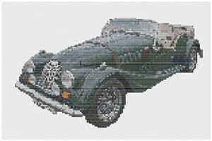 Morgan Roadster–Voiture–Kit broderie pour point de croix Motif