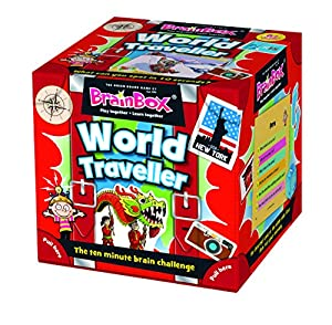 Green Board Games - GRE91037 - BrainBox - World Traveller - Juego de Cartas