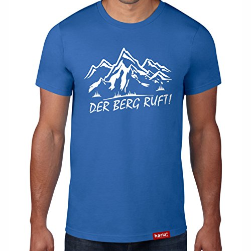 Der Berg ruft // Original Hariz® T-Shirt - Sechzehn Farben, XS-4XXL // Ski-Fahren   Sprüche   Lustig   Party   Winter-Sport #Apres Ski Collection Royal Blue L