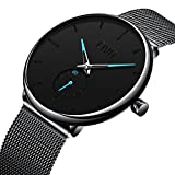 Best Mens Watches - CIVO Mens Black Ultra Thin Watch Minimalist Fashion Review