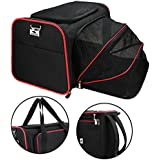 Dog Carrier, OKBUYNOW Dog Cat Travel Backpack with 5 Multi-functional Design(Airline Approved), Fleece Mat Included (Black)