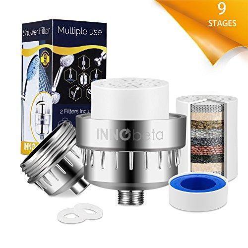 9-Schichten Duschfilter Shower Filter, Kalkfilter Wasserfilter mit Gehäuse für Handbrause...