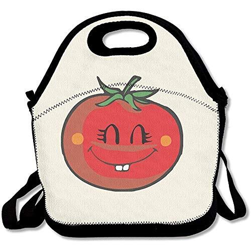 Cartoon Cutetasty Tomaten Zähne groß & dick Neopren Lunch-Taschen Isolierte Lunchtasche Kühltasche Warm Tasche mit Schultergurt für Frauen Teenager Mädchen Kinder Erwachsene
