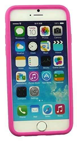 Emartbuy® Apple Iphone 6 6G 6S 4.7  Pollice Case Cover Custodia In Gel Paws Rosa Silicon