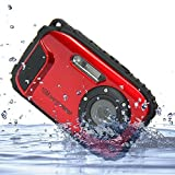 Underwater Camera Stoga CGT002 2,7 Zoll LCD Digitalkamera 16MP Video Camcorder wasserdicht Kamera Zoom Video Recorder + 8 X Zoom Free Shipping Action Cam-rot