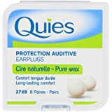 Quies Boules Natural Wax Earplugs 8 Pairs of Earplugs