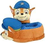 Paw Patrol 0121993- Pantuflas infantiles, figura de peluche Chase, talla 29/31