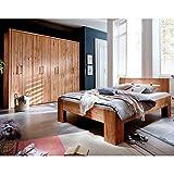 Pharao24 Massivholzschlafzimmer aus Wildeiche geölt modern Liegefläche 200x200