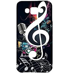 Casotec Music Design Hard Back Case Cover for Samsung Galaxy E7