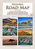 Mapa de viaje detallado NAMIBIA ROAD MAP (1:1.160.000) Cuaderno práctico A4, sinóptico y confiable, ideal para planeación y viaje, todas las calles, alojamientos y atracciones