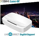 4K Projector, LiveTV.Direct Enhanced for XGIMI Lune4K Super Short Focus Android 3D Smart Laser TV Native 4K UHD Home Theater Projector Built-in 60W Harman/Kardon HiFi Speaker