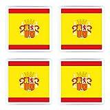 Juego de 4posavasos España Bandera