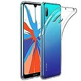 Amonke Coque Huawei Y7 2019 Transparente, Ultra Mince Étui De Protection Absorption De Choc, Ultra Clair TPU Silicone Transparent Souple Housse Etui Coque pour Huawei Y7 2019