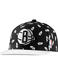 adidas Herren Cap NBA Snap-Back Superstar Brooklyn Nets, Black/White, One size, S20372