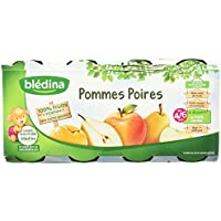 Blédina Pots Fruits Pommes Poires dès 4/6 Mois 8x130g -