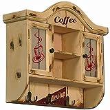 Carrick Design Wandschrank, Kaffee-Design, Mehrfarbig, 48x 40cm