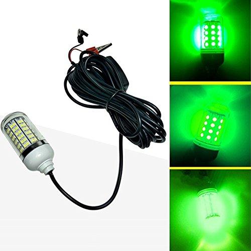 TOOGOO 12V LED Gruen Unterwasser Tauch Nacht Angeln Licht Crappie Shad Squid Boot Angeln Licht - Led-unterwasser-boot Lichter