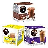 Nescafé Dolce Gusto Chocolate Trio, 3 Sorten, Mocha, Nesquik, Chococino, Schokolade, Kaffee, 48 Kapseln