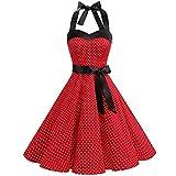 a353c64c4cee Subfamily Abito da Donna Vintage Senza Maniche Halter Sexy Dress