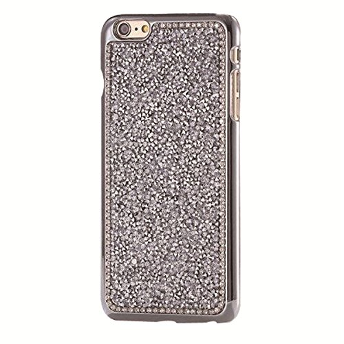 Coque iPhone 7, Lifetrut [Couverture rigide] Luxe Sparkly Shining Hard Case Couverture avec des diamants Glitter pour iPhone 7 [Rose] E205-argent