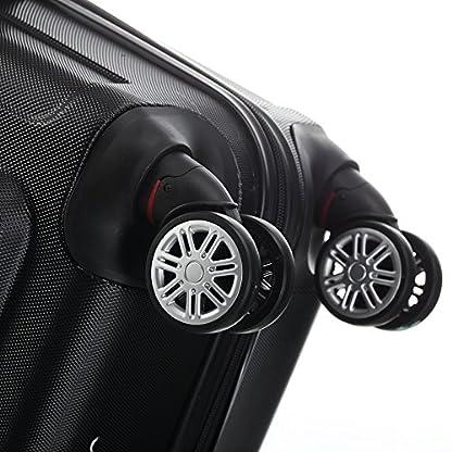 Beibye ruedas Gemelas de 2048Maleta rígida Maleta viaje en m L XL de Juego en 17colores, negro