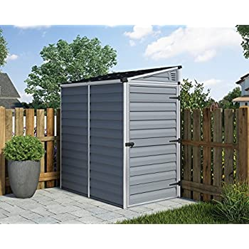 Palram 6ft Shed 4x6 Amber Amazon Co Uk Garden Amp Outdoors
