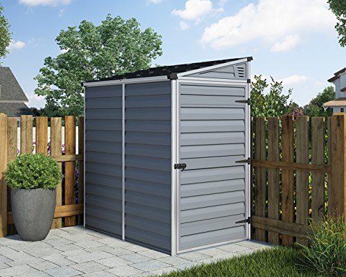 PALRAM SKYLIGHT 4X6 GREY PENT SHED
