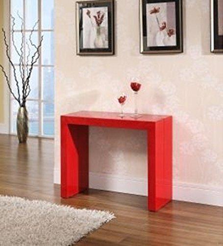 Tavolo Legno Consolle Allungabile Fino A 3mt Colore Rosso