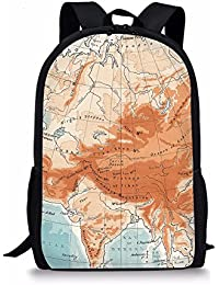 8ca0fec1d3 Nopersonality World Map Kids Backpack Junior Bag for Children Boy Girls School  Rucksack