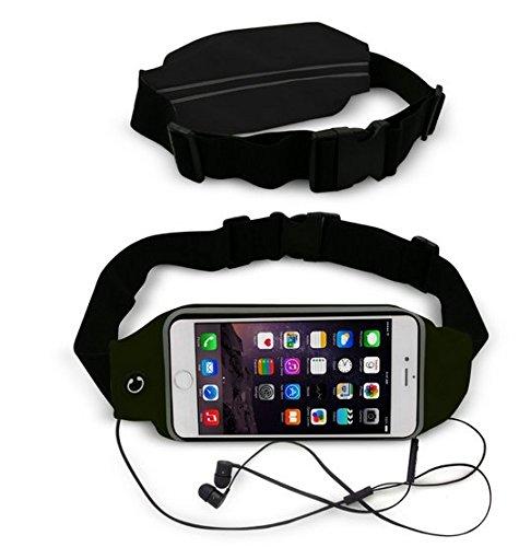 Theoutlettablet® Cinturón - Riñonera deportivo para running - correr - impermeable al sudor y Reflectante con bolsillo para transporte Smartphone Alcatel Pixi 3 (8) COLOR NEGRO (S)