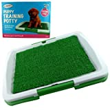 Indoor House Puppy Dog Toilet Training Mat Pad Potty - Toilet Tray - 3 Layer Mat - Reusable again & again - Ingenious Mat & Tray Training System - Easy to clean - Easy assemble ready in seconds