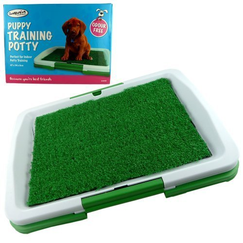 INDOOR HOUSE PUPPY DOG TOILET TRAINING MAT PAD POTTY – TOILET TRAY – PERFECT FOR INDOOR POTTY TRAINING – 3 LAYER MAT – REUSABLE AGAIN AND AGAIN – INGENIOUS MAT AND TRAY TRAINING SYSTEM – EASY TO CLEAN – EASY ASSEMBLE READY IN SECONDS