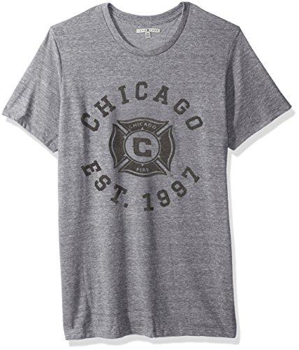 Pre-short Sleeve Graphic T-shirt (Junk Food MLS Herren Short Sleeve Crew Neck Tee, Herren, Clothing Men's Short Sleeve Crew Neck Tee, Stahl, Large)