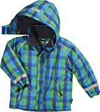 Playshoes Jungen Jacke Warme Winterjacke, Schneejacke, Skijacke Karo, Gr. 128, Blau (original 900)