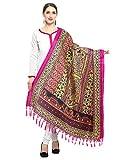 #8: Varayu Women's Art Silk Floral Printed Dupatta