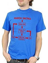 Balcony Shirts 'Match Tactics - Pass to Zaha' Mens Funny Football T Shirt